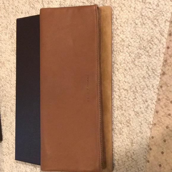 57b4da172 Leather-suede Elie Tahari embossed clutch purse. Elie Tahari.  M_5a4e5597d39ca2df1e00bd57. M_5a4e55982c705d975800b91f.  M_5a4e559a72ea88322200b89e
